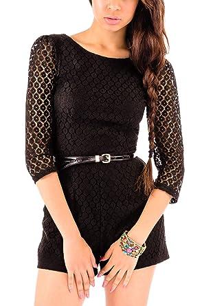 8eddc1a0e18 Black Lace Playsuit - Playsuit Women - Ladies Playsuit - Black Playsuit  Look Playsuit - Playsuits