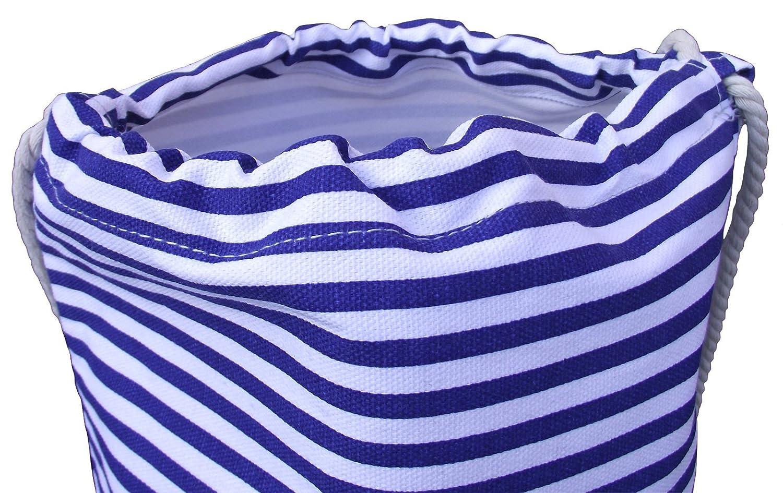 Bolsa de playa azul rayas playa Mochila