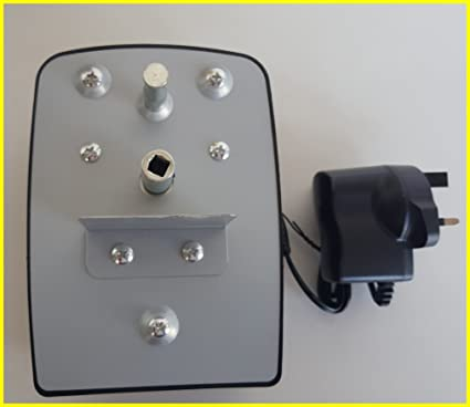 GK Motor de parrilla para barbacoa de carbón vegetal Rotisserie (incluye adaptador de 3 V