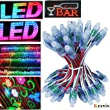 Rextin WS2811 Pixels Digital Addressable LED String Lights Waterproof RGB Full Color 12mm DC 12V (DC12V 50pcs)