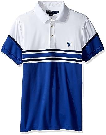 U.S. Polo Assn. Hombre 11-8266-1P Manga Corta Camisa Polo - Azul ...