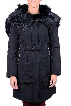 online retailer 261f7 ce9b9 Guess Piumino Donna Lungo Jeans Pelliccia W6422H-MP201JTMU ...