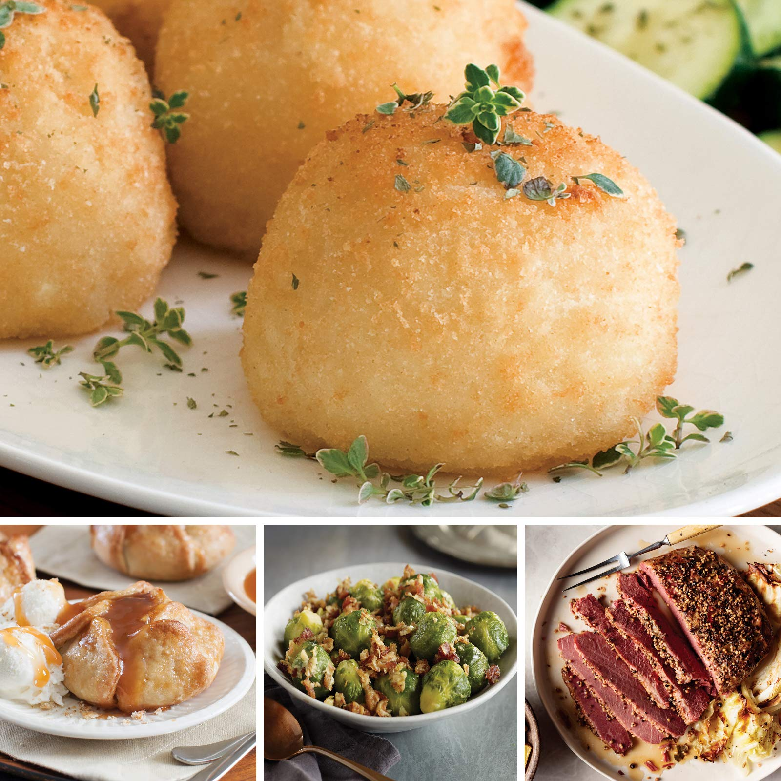 Omaha Steaks All-Included St. Patrick's Day Essentials (15-Piece with Rustic Corned Beef Roast, Brussels Sprouts with Shallots and Bacon, Potatoes au Gratin, and Individual Caramel Apple Tartlets)