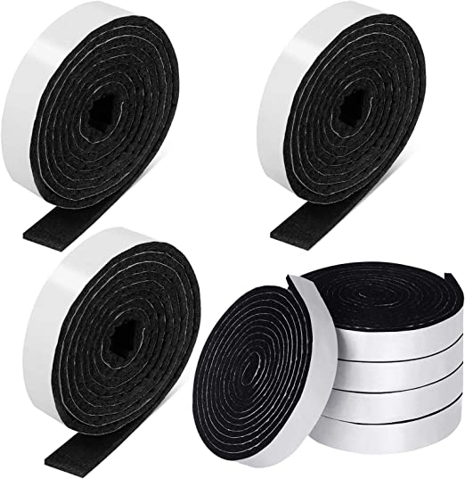 1/2 x 60 Inch Felt Strips with Adhesive Backing Self-Stick Heavy Duty Felt Tapes Polyester Felt Strip Rolls for Protecting Furniture and Freedom DIY Adhesive (Black, 8 Rolls) - - Amazon.com