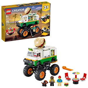 LEGO Creator 3in1 Monster Burger Truck 31104 Building Kit, Cool Buildable Toy for Kids, New 2020 (499 Pieces)
