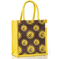 "H&B Jute Eco-Friendly Lunch Bags (Brown, H: 11"" x L: 10"" x W: 6"")"