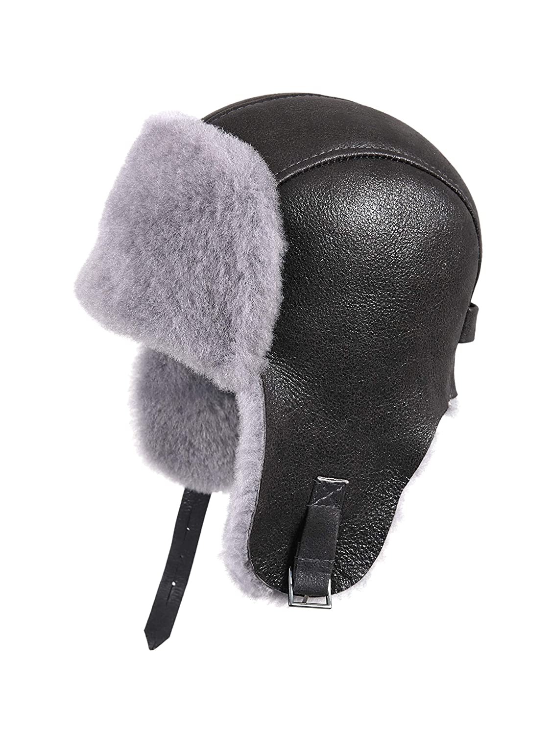 61a43e5323126 Amazon.com  Zavelio Women s Shearling Sheepskin Pilot Hat  Clothing