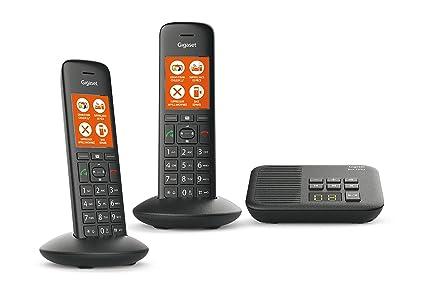 Gigaset C570A Duo - Teléfono (Teléfono DECT, Terminal con conexión por Cable, Altavoz