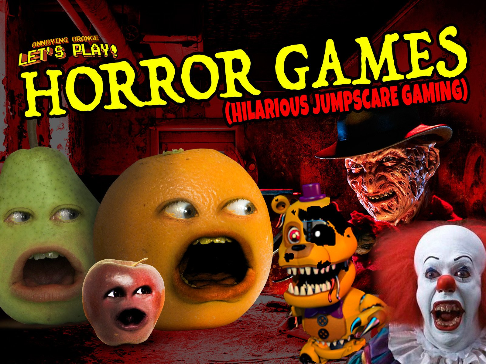 amazon com clip annoying orange let s play horror games
