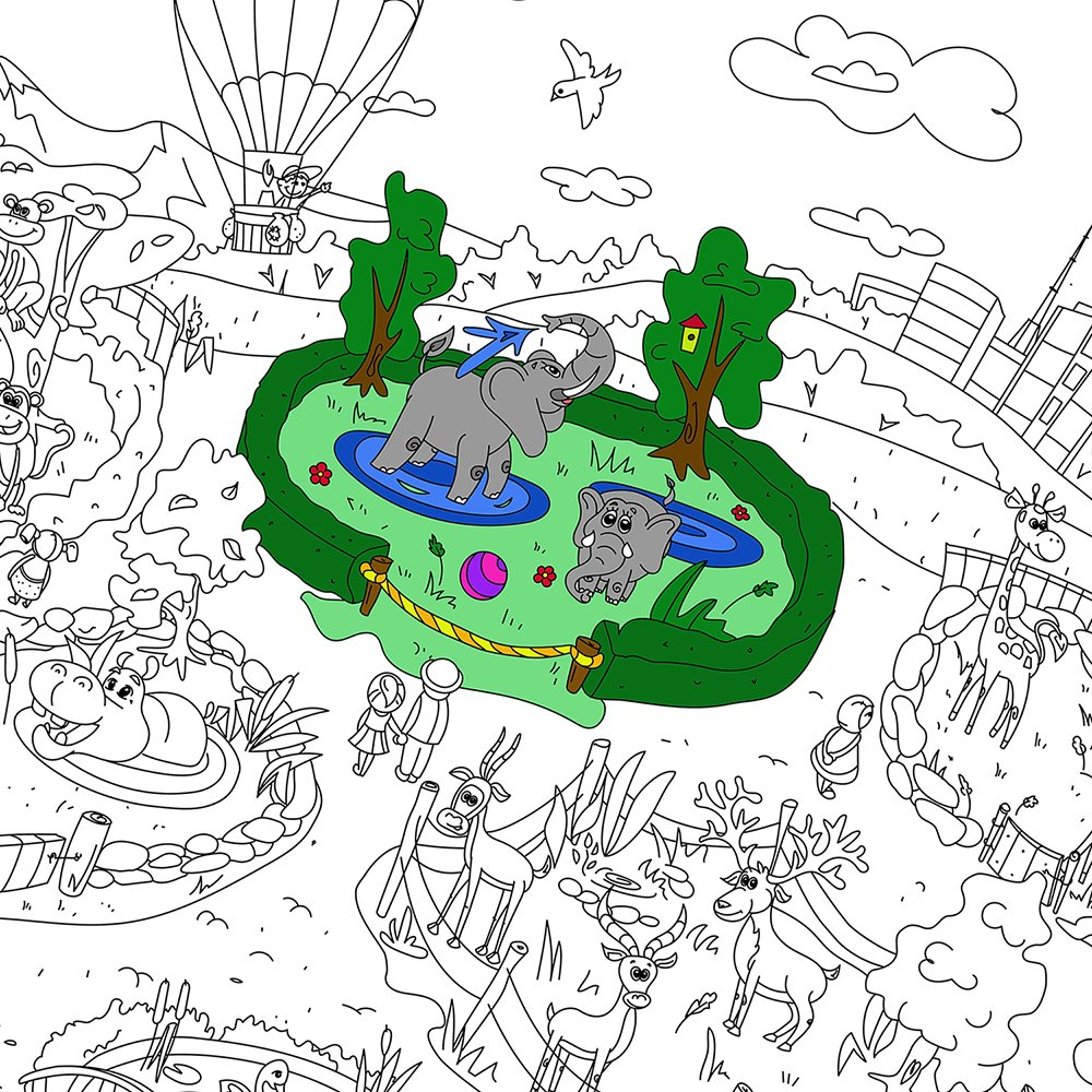 Amazon.com: Colorings for children Zooland. Coloring pages for kids ...