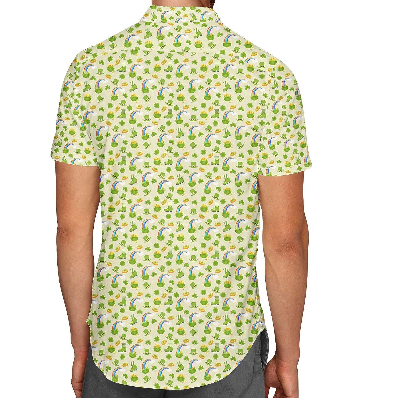 Luck O The Irish Mens Button Down Short Sleeve Shirt