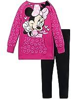 Disney Minnie Mouse Little Girls' Pullover Sweatshirt Top and Legging Set