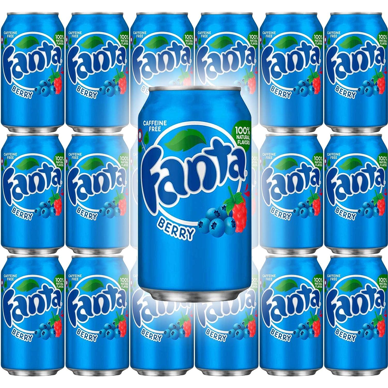 Fanta Berry Soda, 12 Fl Oz Can (Pack of 18, Total of 216 Fl Oz)