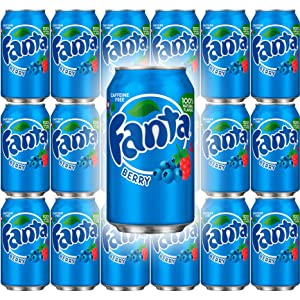 Fanta Berry Soda, 12 Fl Oz Can (Pack of 18, Total of 216 Fl Oz)