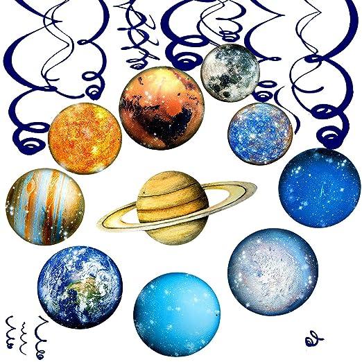 Comius 30 Piezas Sistema Solar Decoración, Planeta Party ...