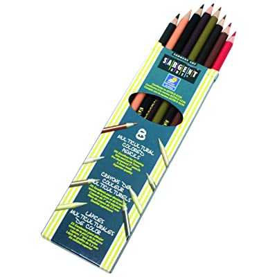 Sargent Art 22-7208 Colors of My Friends 8-Count Multicultural Colored Pencil Set: Arts, Crafts & Sewing