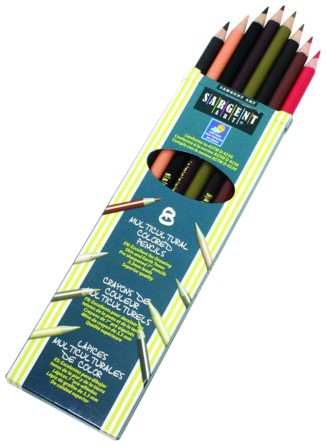 Sargent Art 22–7208 Couleurs de My Friends 8-count Multicultural de crayons de couleur 22-7208