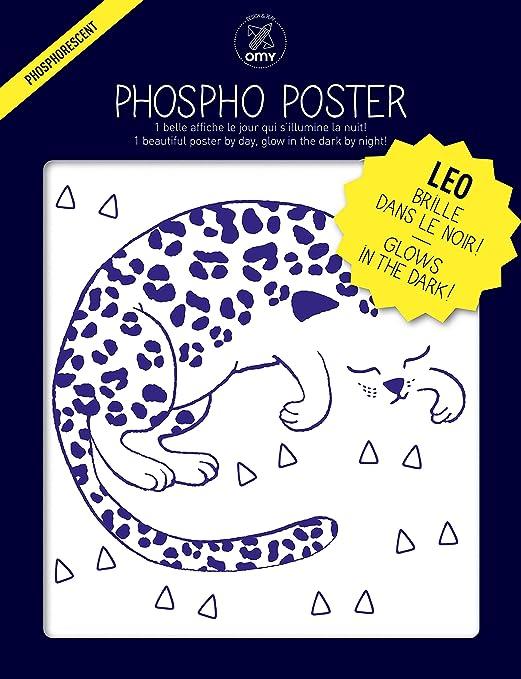 O My Products OMY cartel fluorescente Leo (formato 30 x 40 ...