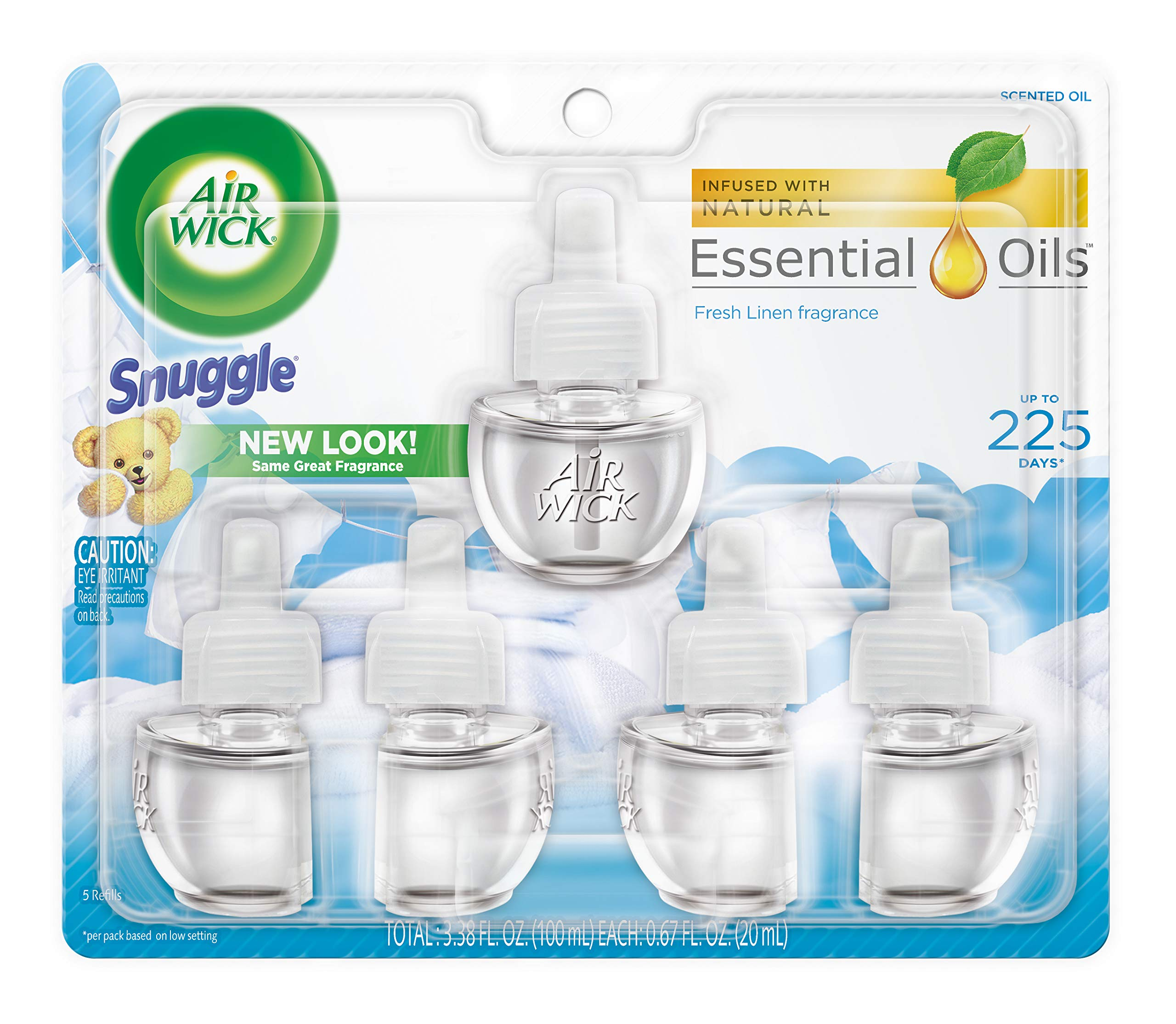 Air Wick Scented Oil Refill, Snuggle Fresh Linen, 5 Refills (5X.67) oz (Pack of 7)