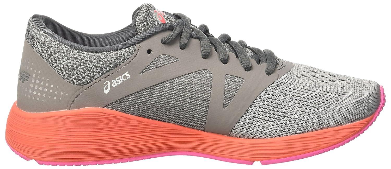 ASICS Damen Roadhawk Ff Laufschuhe, grau Grau (Carbon / / Silver / (Carbon Flash Coral) 390632
