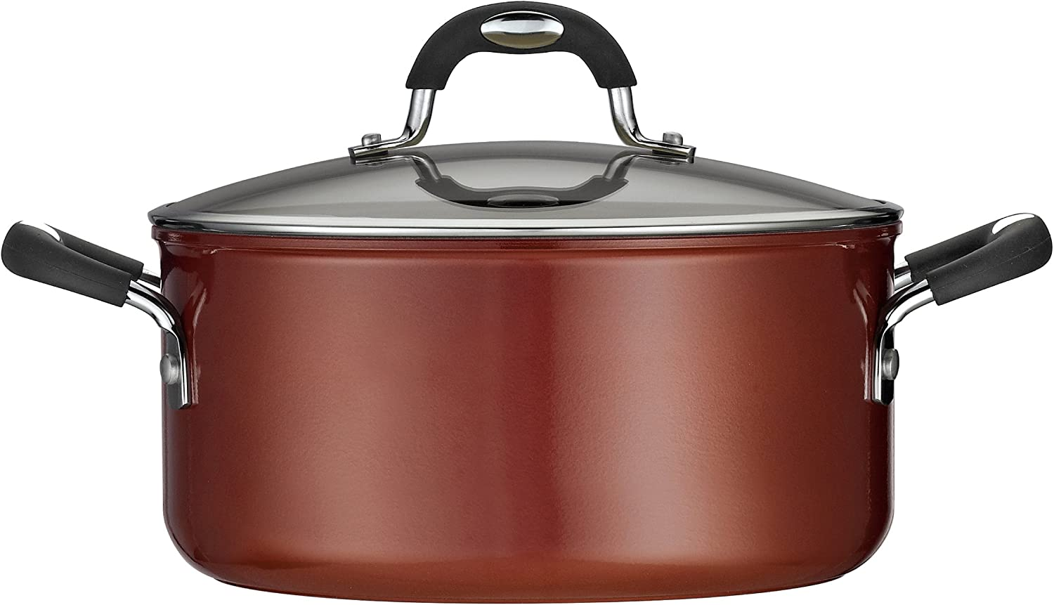 Tramontina 80110 050DS Style Ceramica 01 Covered Dutch Oven, 5-Quart, Metallic Copper