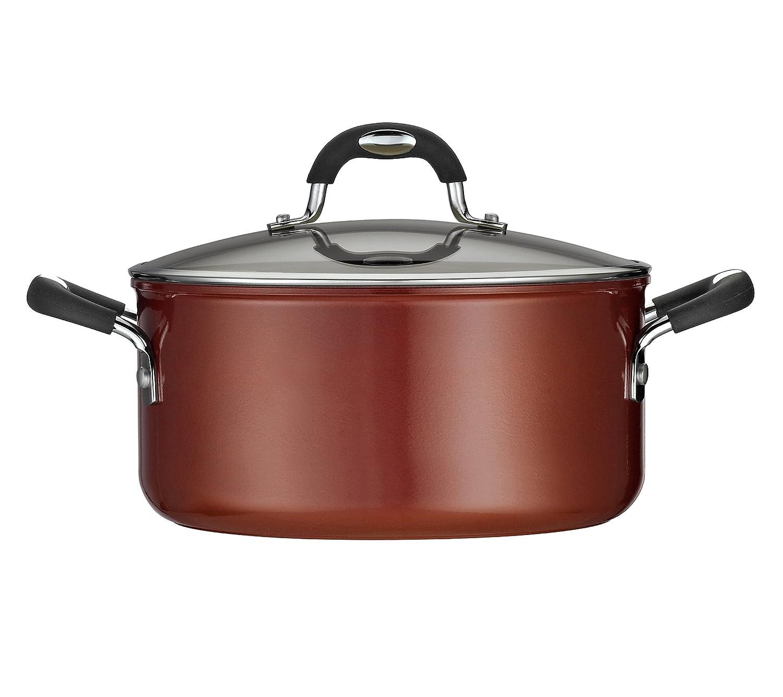 Tramontina 80110 050DS Style Ceramica 01 Covered Dutch Oven, 5-Quart, Metallic Copper
