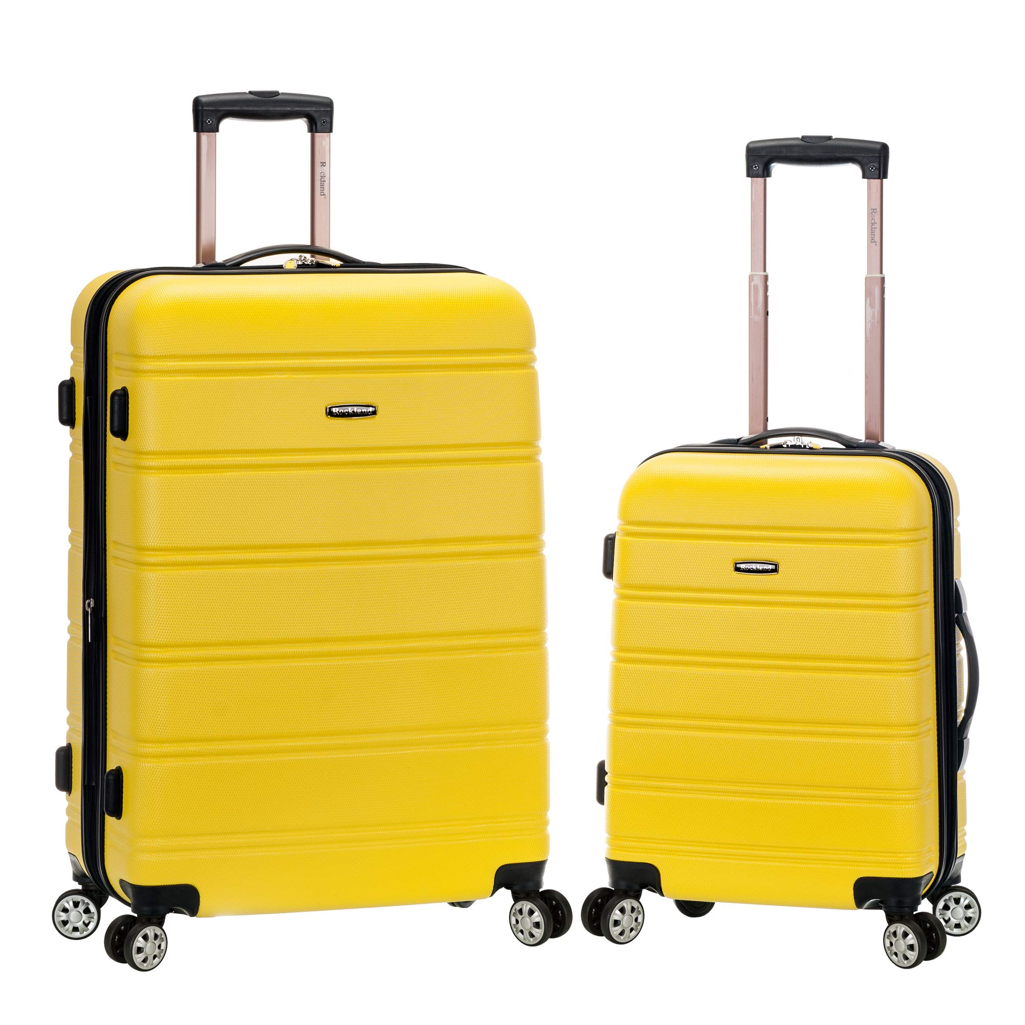 Rockland 20'', 28'' 2pc Expandable Abs Spinner Set, Yellow
