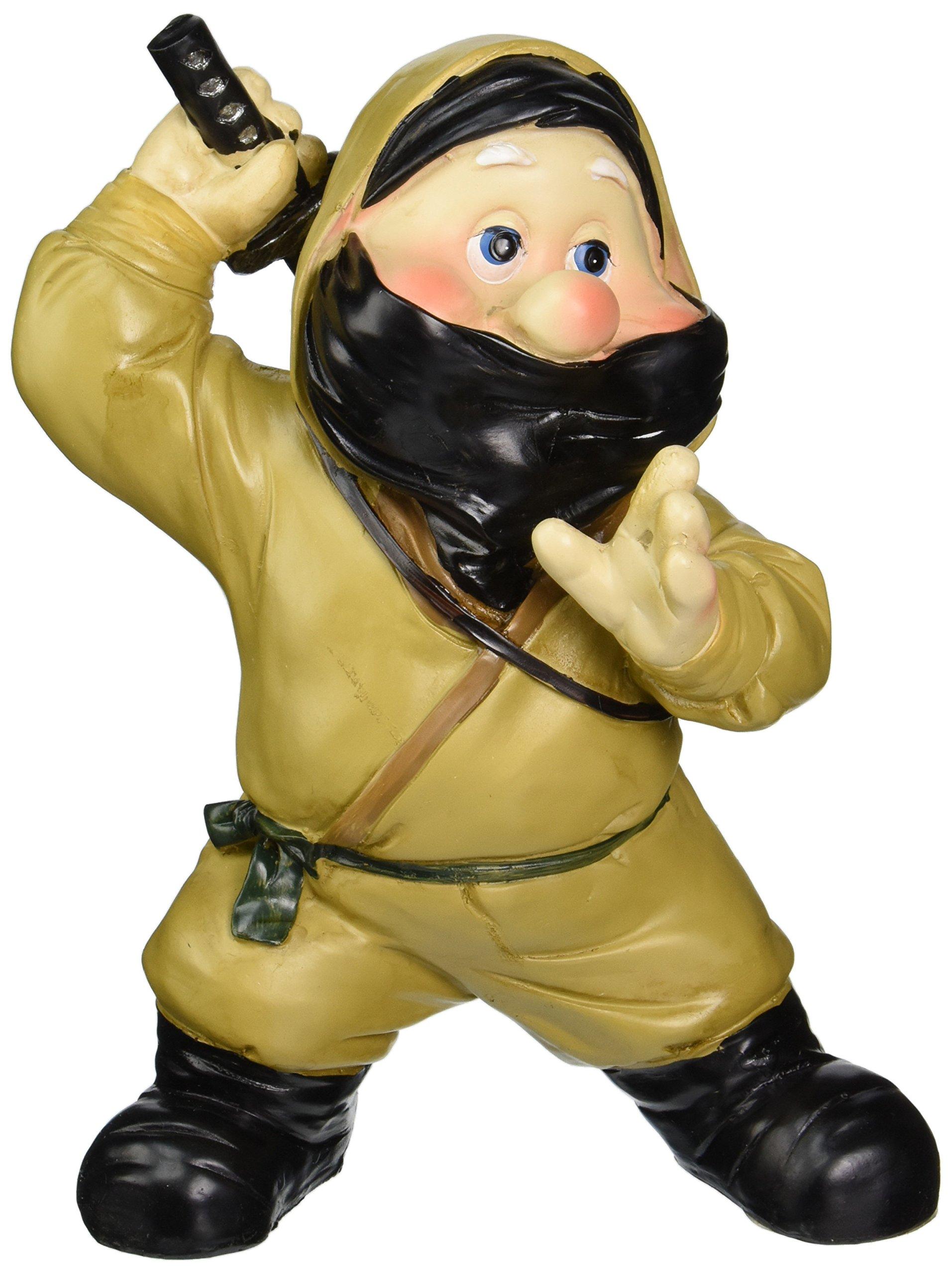 Design Toscano Garden Gnome Statue - Far East Garden Fighters Ninja - Lawn Gnome