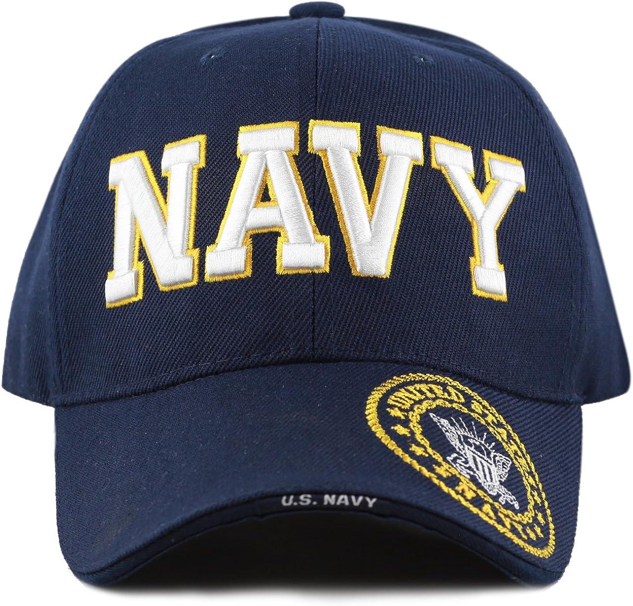 One Size Fits All US Navy Veteran Blue Baseball Cap NEW