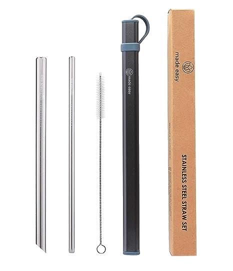 Amazon.com: LMade Easy - Pajitas reutilizables de acero ...