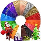 3D Pen Filament 320 Feet, 16 Colors,Each Color 20 Feet, Bonus 250 Stencils eBooks - 3D Pen/3D Printer PLA Filament 1…