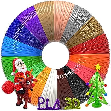 Non-Clogging dikale 3D Pen Bonus 18 Colors PLA Filament Refills 07A【Newest Version】 3D Drawing Printing Pen Bonus 18 Colors 180 Feet PLA 250 Stencils eBooks for Kids Adults Arts Crafts Model DIY