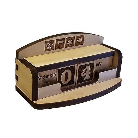 Amazoncom Abong Wooden Block Perpetual Calendar Kit Diy Hobby