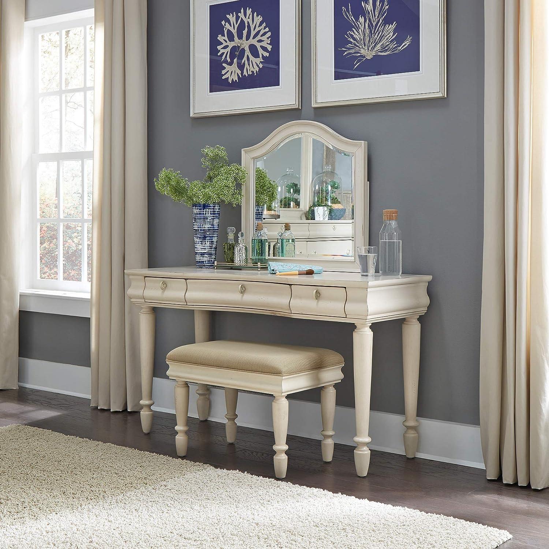 Liberty Furniture Industries Rustic Traditions Bedroom 3 Piece Vanity Set, W52 x D19 x H57