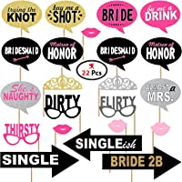 Party Propz Bride to Be Photo Booth Props 22Pcs, Wedding Photo Booth Props
