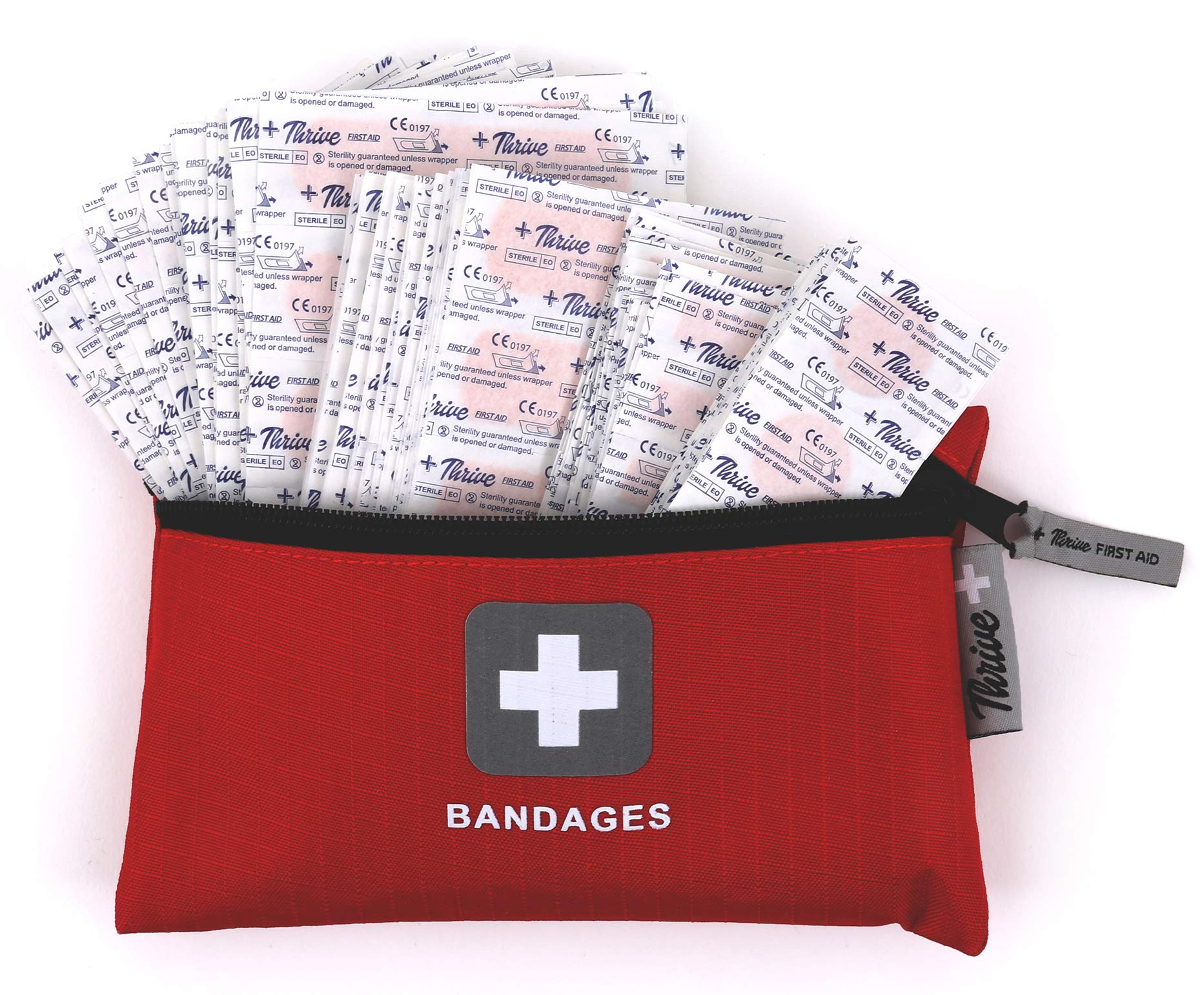 Adhesive Bandages – Pack of 305 Mixed Sizes Fabric Adhesive Bandages + Free Storage Bag. Tough and Flexible Cotton Elastic Fabric Strip Bands Aid healing