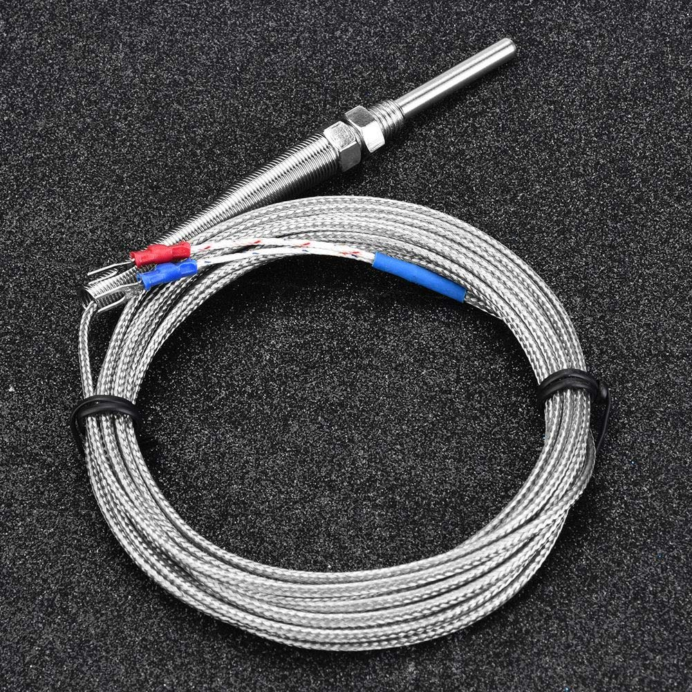 Type K Thermocouple ,M8 Thread 30mm Probe Temperature Sensor Wire 0-400℃ Really Good Quality Products,Not A Pile of Garbage 4m
