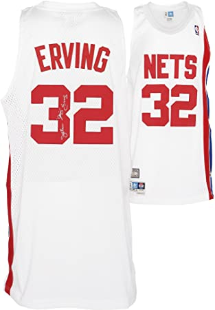 adidas Julius Erving New Jersey Nets Autographed Swingman Jersey  with quot Dr. J quot  Inscription db80352db