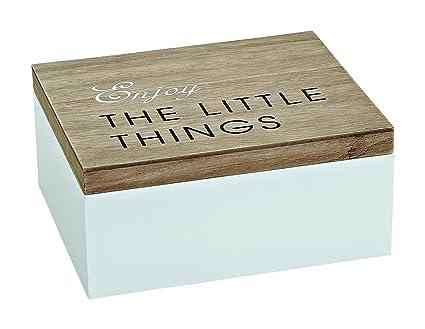 Caja de madera con tapa, caja decorativa y de almacenamiento.