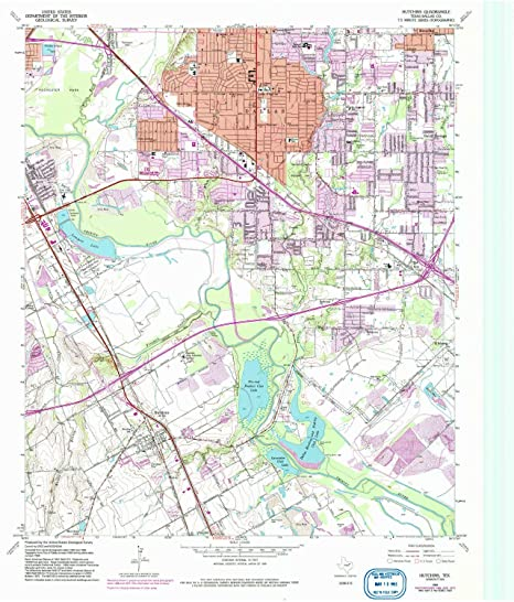 Amazon Com Yellowmaps Hutchins Tx Topo Map 1 24000 Scale