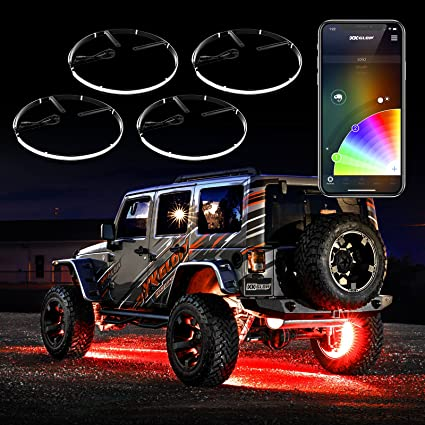 XKchrome iOS Android App Control Interior Underglow LED Accent Light Kit