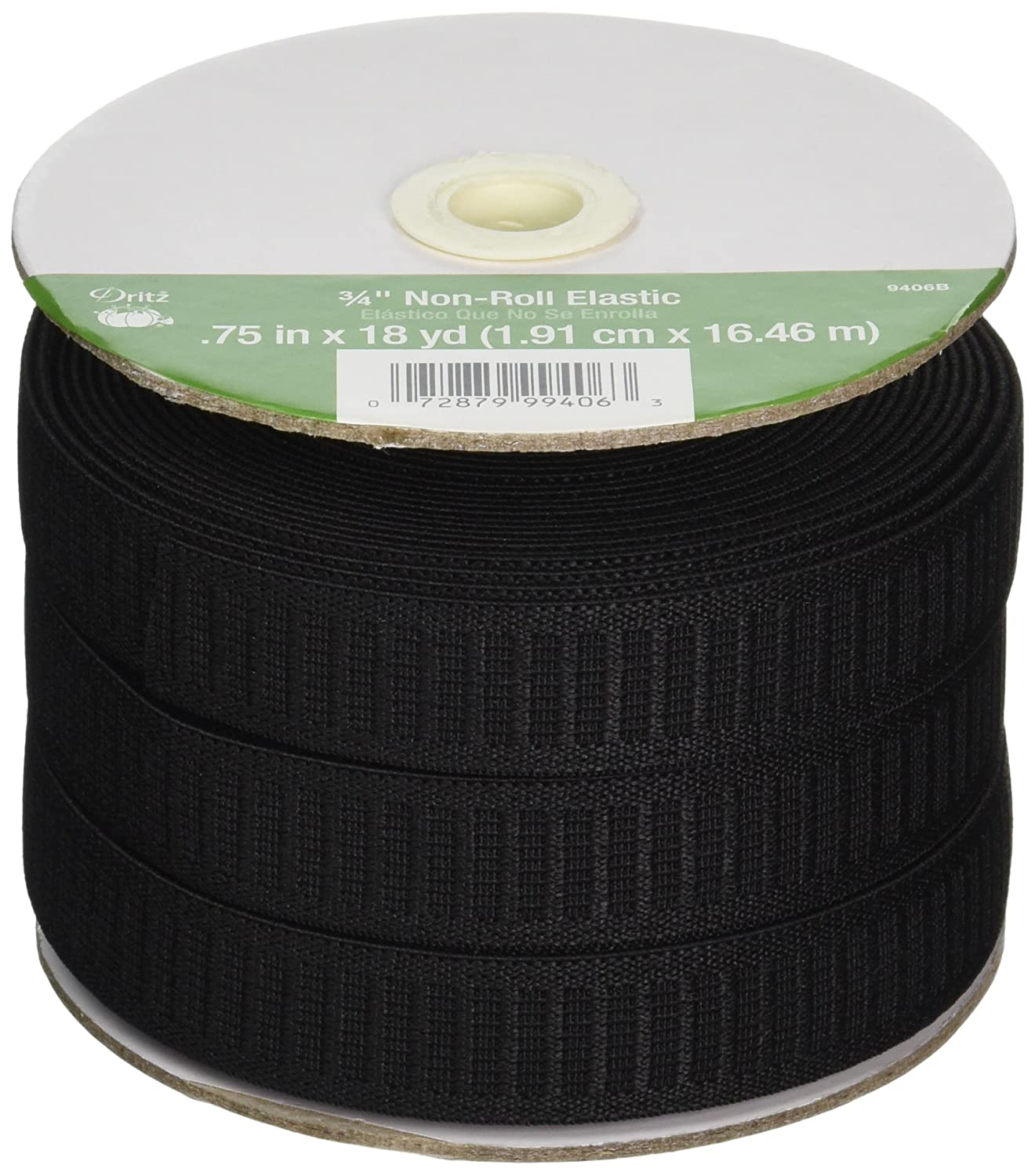 Dritz 9406W Non-Roll Woven Elastic, White, 3/4-Inch by 18-Yard Notions - In Network 9406-W