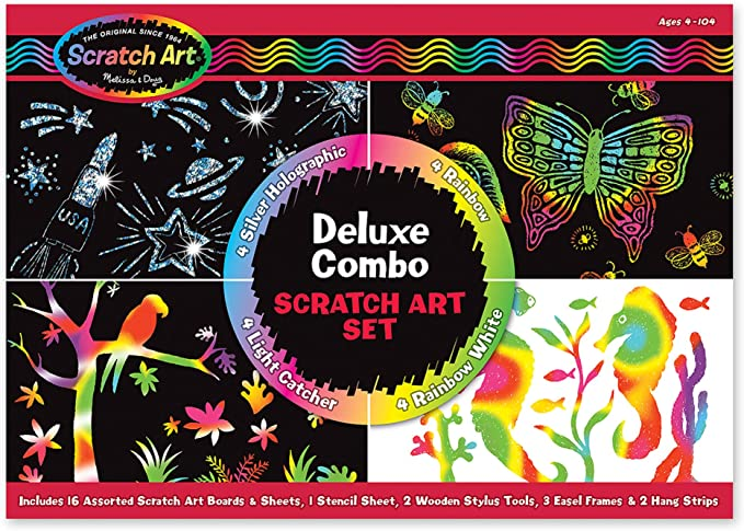 Dinosaur #30514 MELISSA /& DOUG ON-THE-GO Scratch Art