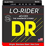 DR Strings Lo-Rider - Stainless Steel Hex Core 5 String Bass 40-120