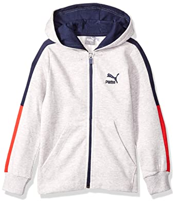 0b3bdd60913e Amazon.com  PUMA Little Boys  Full-Zip Fleece Hoodie  Clothing