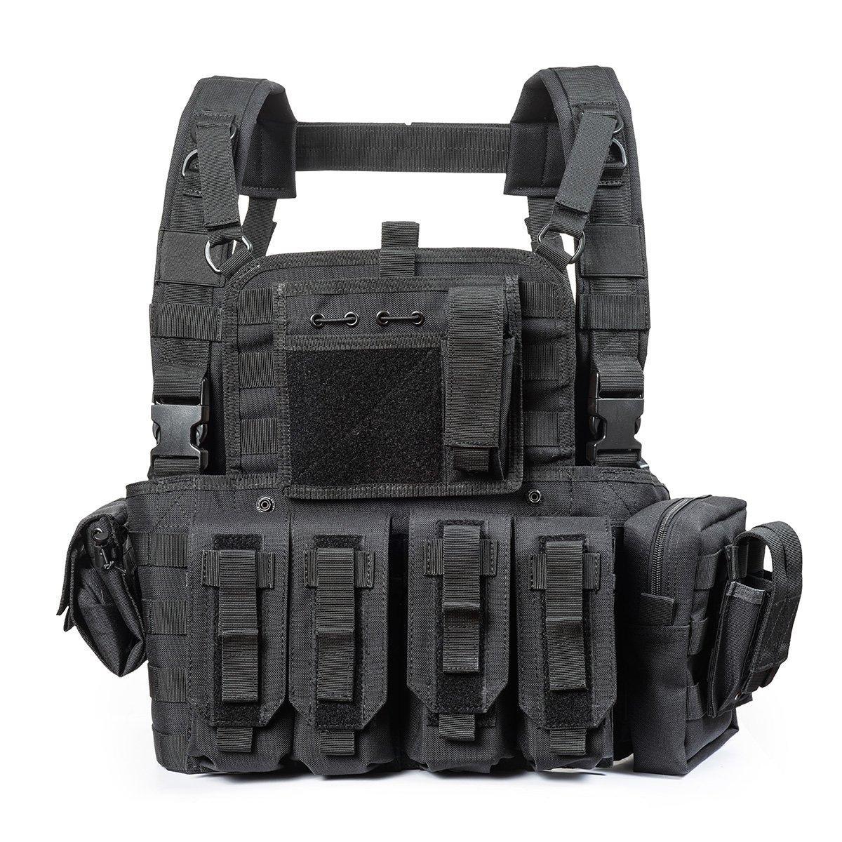 YAKEDA Tactical CS Game Chest Vest - KF-099 (Black)