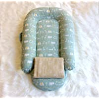 2cloud9 Bed-Sharing Co-sleeper and Baby Lounger with Extra ORGANIC Muslin Cover. Handmade in USA (Size 1 - Open end)