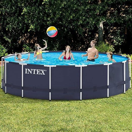 INTEX Premium de Pool 457 x 122 cm Piscina Marco de Metal: Amazon ...