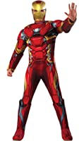 Rubie's Men's Captain America Civil War Deluxe Muscle Chest Iron Man Costume