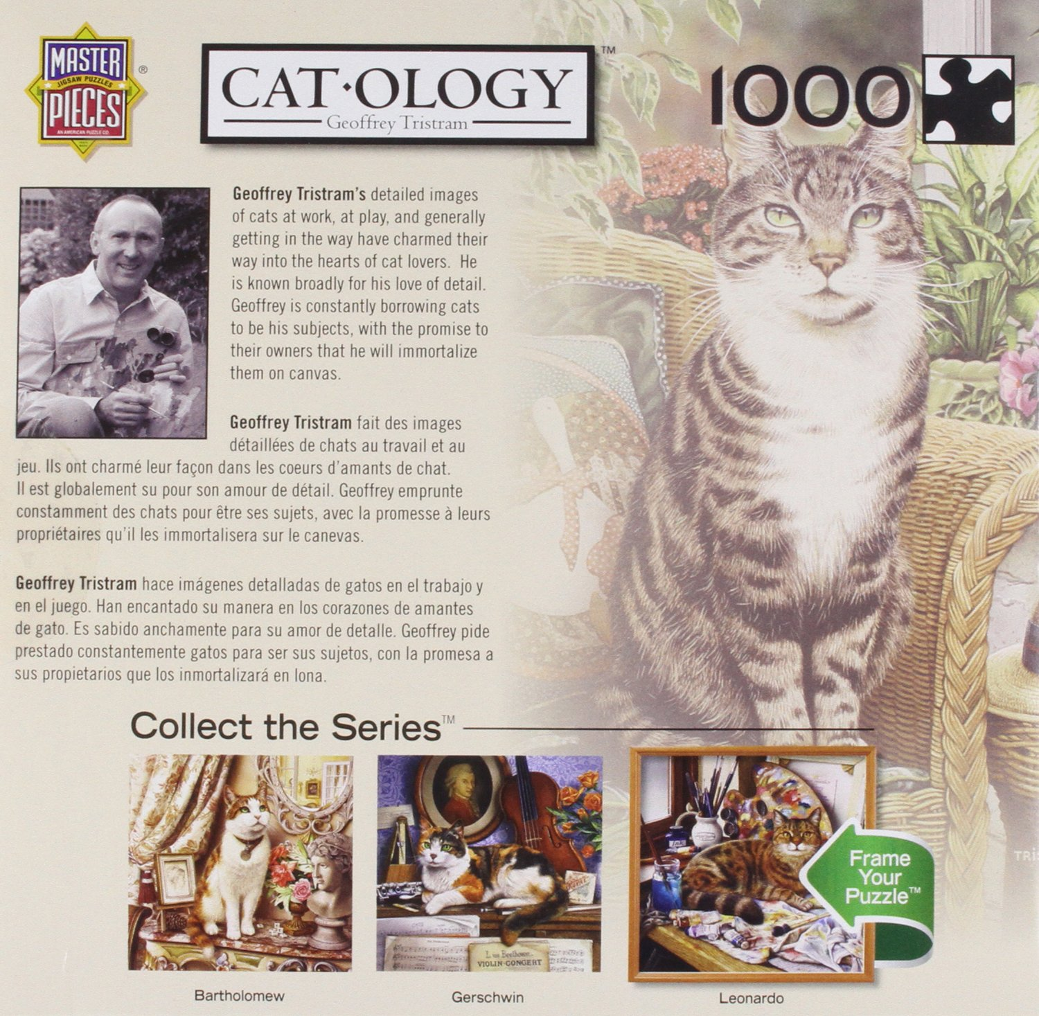 Amazon.com: MasterPieces Cat-O-Logy Hemingway Jigsaw Puzzle, 1000-Piece: Toys & Games